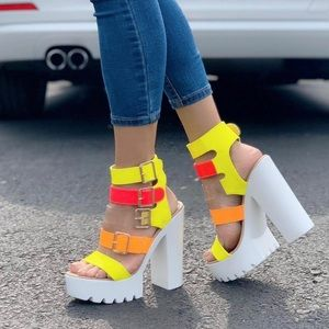 Shoes - New Arrival Bright Strappy Heel